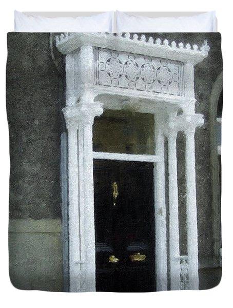 Irish Solicitors Door Duvet Cover by Teresa Mucha