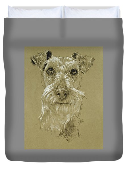 Irish Terrier Duvet Cover by Barbara Keith