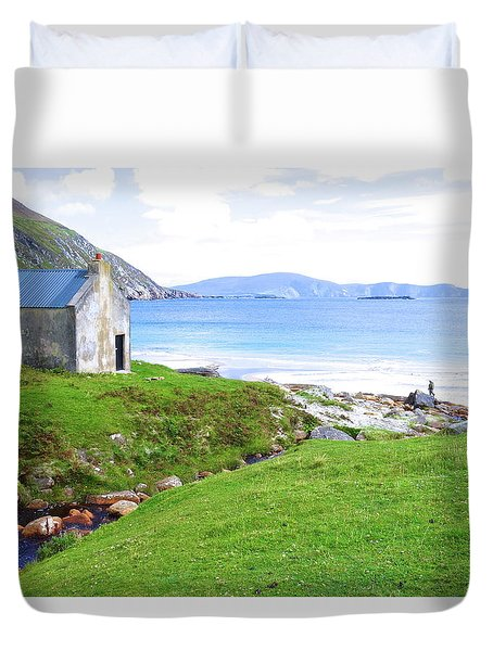 Irish Treasures.. Past And Present Duvet Cover by Charlie and Norma Brock