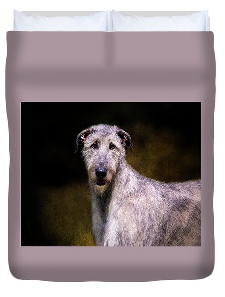 Irish Wolfhound Portrait Duvet Cover
