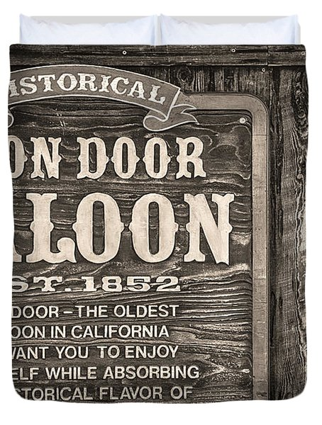 Iron Door Saloon 1852 Duvet Cover by David Millenheft