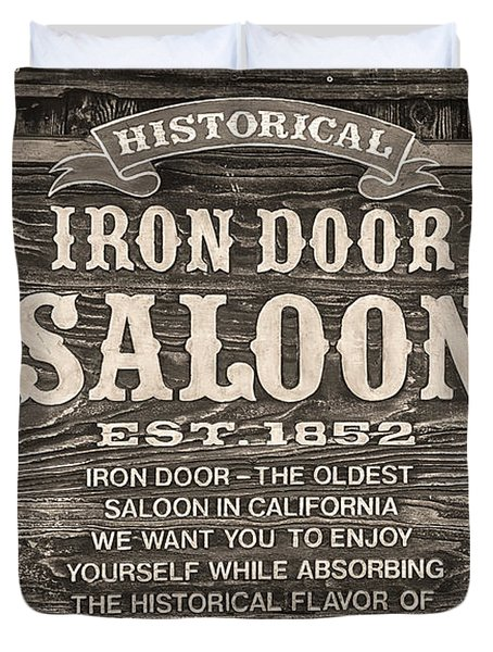Iron Door Saloon 1852 Duvet Cover