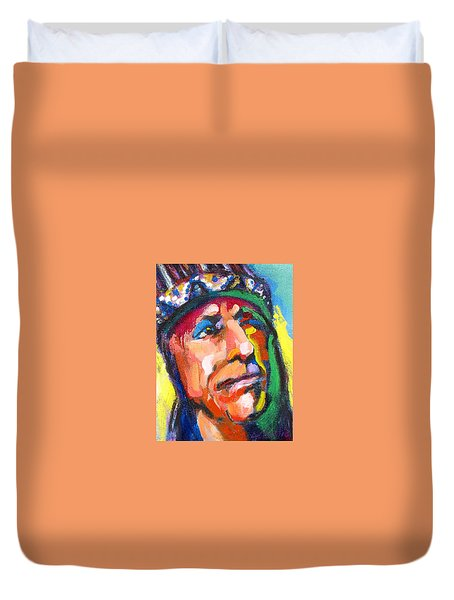 Iron Eyes Cody Duvet Cover