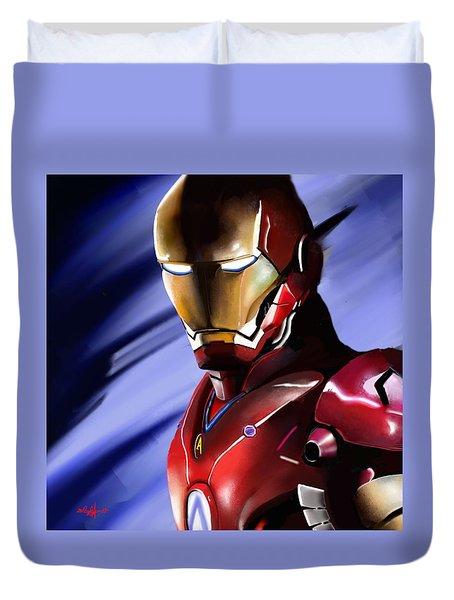 Iron Man's Glance. Duvet Cover