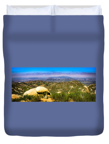 Duvet Cover featuring the photograph Iron Mountain View by T Brian Jones