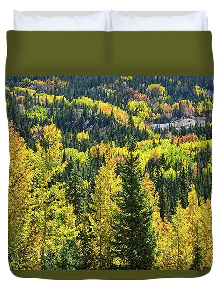 Duvet Cover featuring the photograph Ironton Fall Color by Ray Mathis