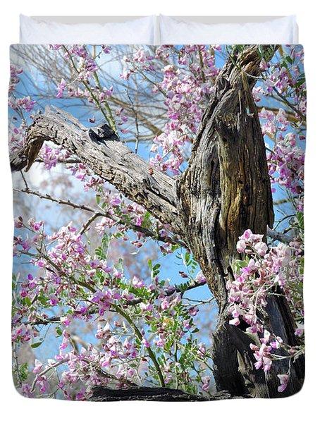 Ironwood In Bloom Duvet Cover