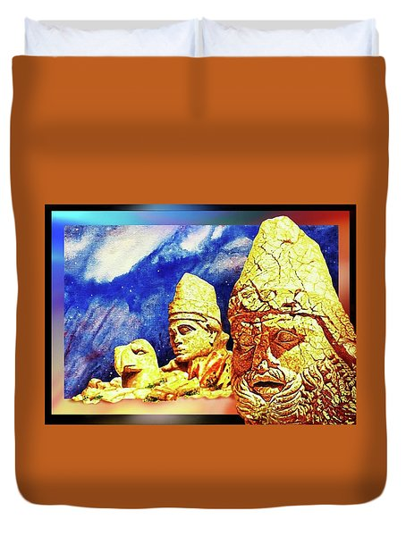 Duvet Cover featuring the painting Irreplaceable   Ancient  Glory by Hartmut Jager