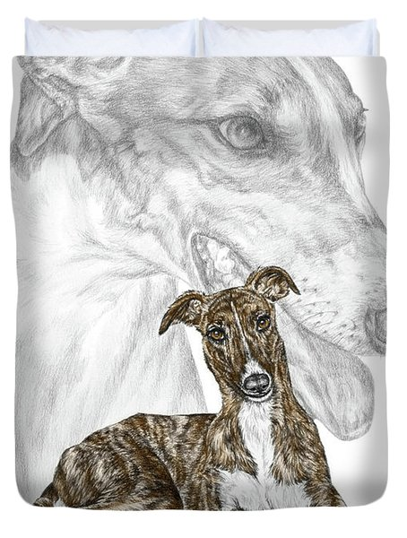 Irresistible - Greyhound Dog Print Color Tinted Duvet Cover