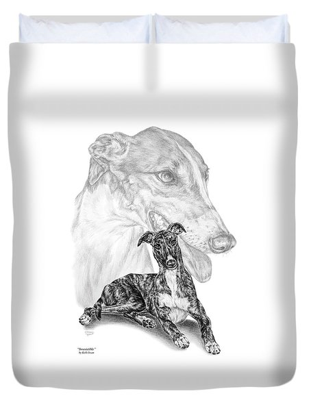 Irresistible - Greyhound Dog Print Duvet Cover