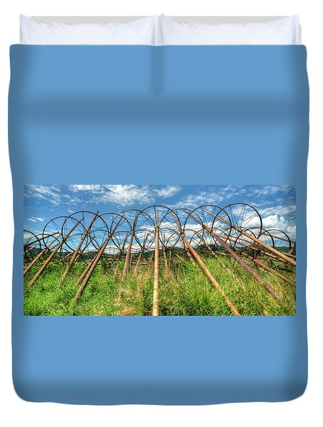 Irrigation Pipes 1 Duvet Cover