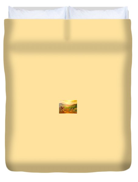 Is It Done Yet? Duvet Cover by Connie Gregory