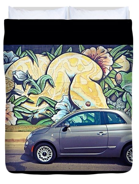 Is It Safe To Drive Mr. #fiat Into The Duvet Cover
