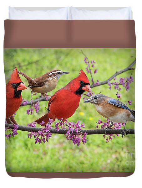 Duvet Cover featuring the photograph Is It Spring Yet? by Bonnie Barry
