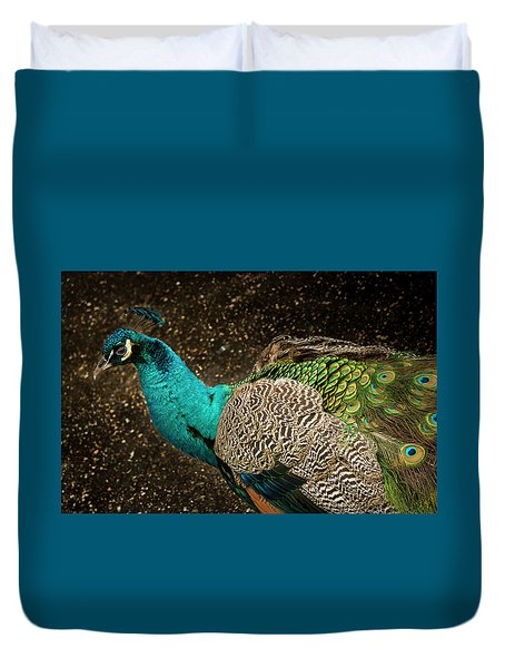 Duvet Cover featuring the photograph Is She Looking ? by Jean Noren