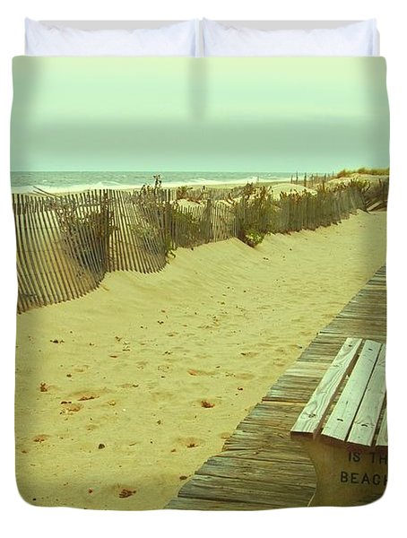 Is This A Beach Day - Jersey Shore Duvet Cover
