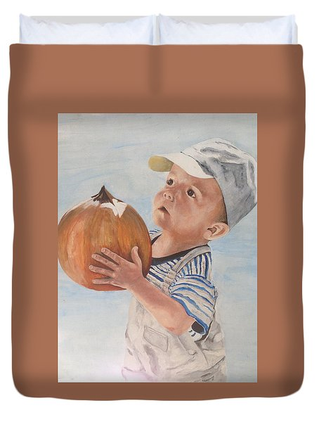 Is This Pumpkin Good? Duvet Cover