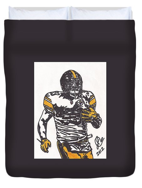 Duvet Cover featuring the drawing Isaac Redman by Jeremiah Colley