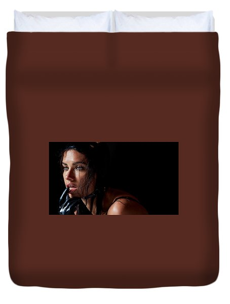 Isabeli Fontana Duvet Cover