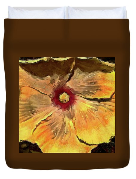 Duvet Cover featuring the mixed media Isabella by Trish Tritz