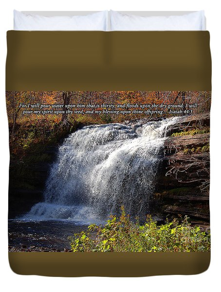 Duvet Cover featuring the photograph Isaiah 44 by Diane E Berry