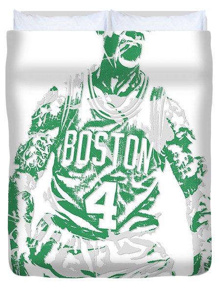 Isaiah Thomas Boston Celtics Pixel Art 16 Duvet Cover
