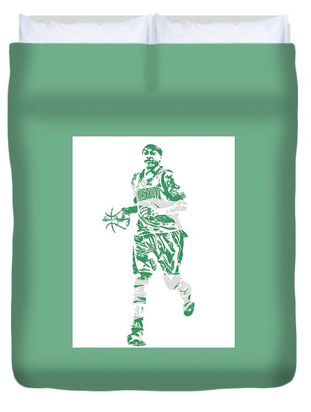 Isaiah Thomas Boston Celtics Pixel Art 17 Duvet Cover