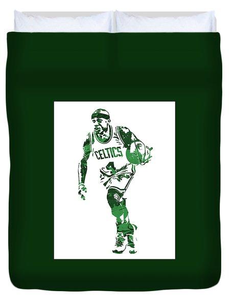 Isaiah Thomas Boston Celtics Pixel Art 4 Duvet Cover