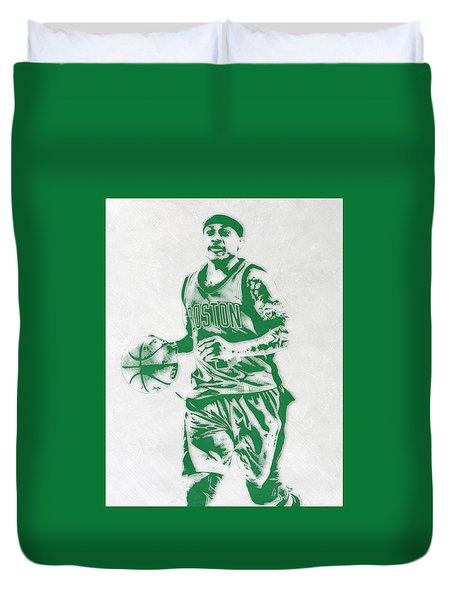 Isaiah Thomas Boston Celtics Pixel Art Duvet Cover