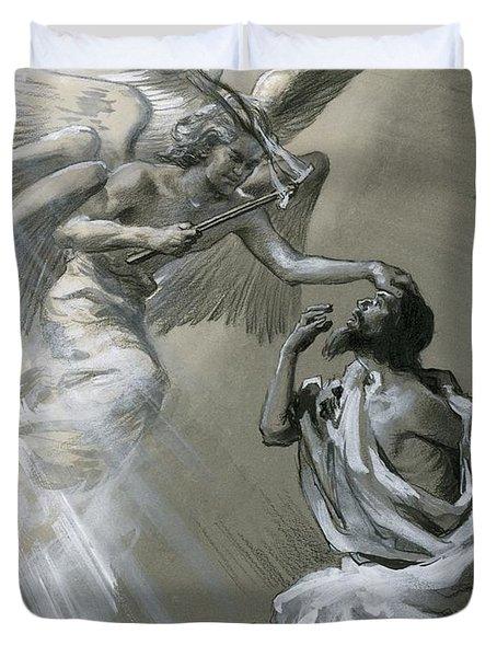 Isaiah's Vision Duvet Cover