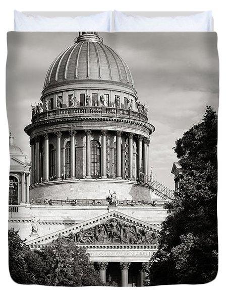 Isakievsky Cathedral Duvet Cover by Konstantin Dikovsky