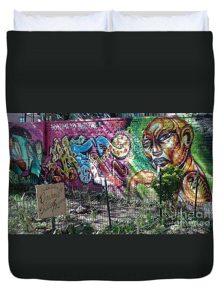 Isham Park Graffiti  Duvet Cover by Cole Thompson
