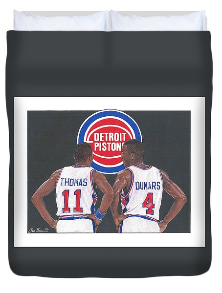Isiah Thomas And Joe Dumars Duvet Cover