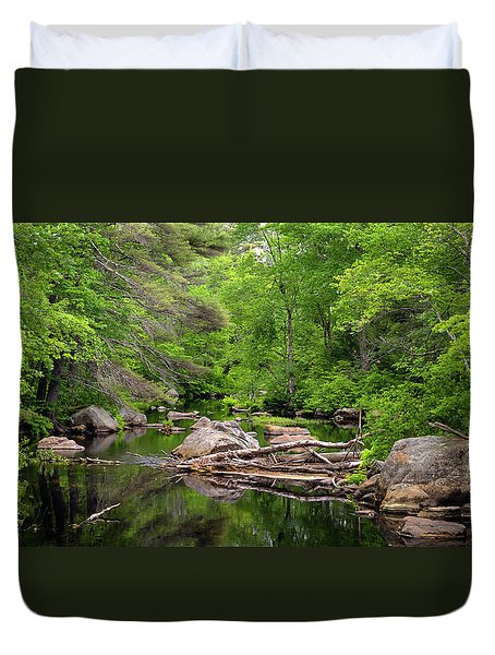 Isinglass River, Barrington, Nh Duvet Cover