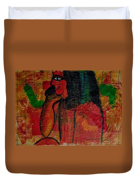 Isis, Egyption Queen Of Earth Duvet Cover