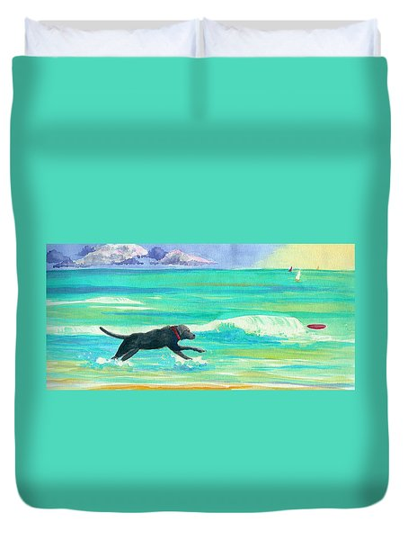 Islamorada Dog Duvet Cover