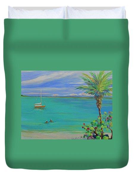Islamorada Snorkeling Duvet Cover