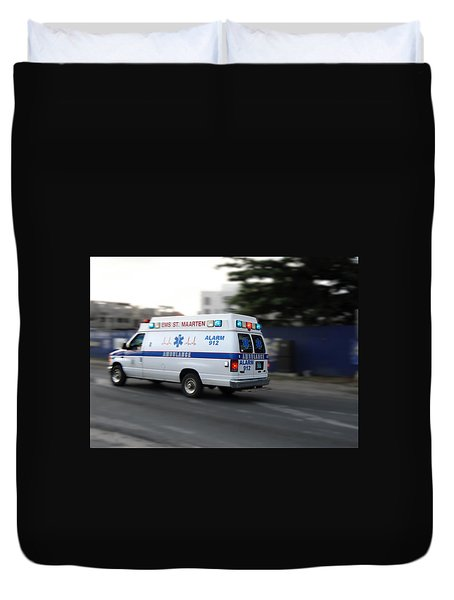 Island Ambulance Duvet Cover