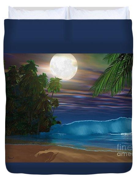 Island Beach Duvet Cover by Corey Ford