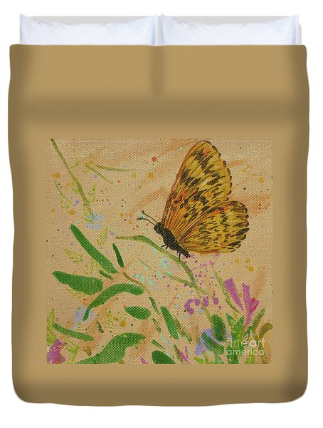 Island Butterfly Series 4 Of 6 Duvet Cover
