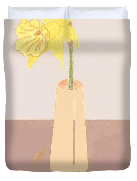 Island Daffodil Duvet Cover