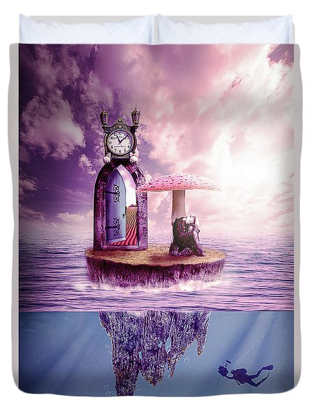 Island Dreaming Duvet Cover by Nathan Wright