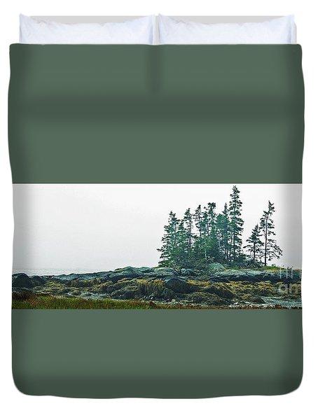 Island, Fog Duvet Cover