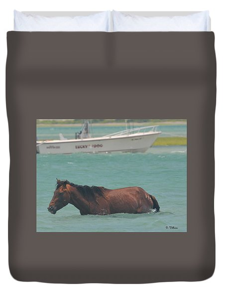 Island Horse Duvet Cover
