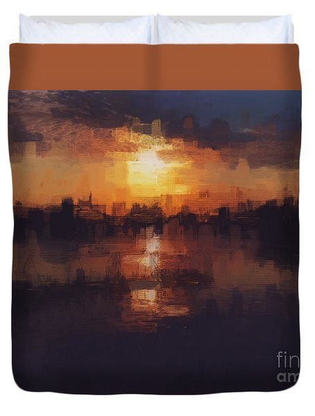Island In The City Duvet Cover