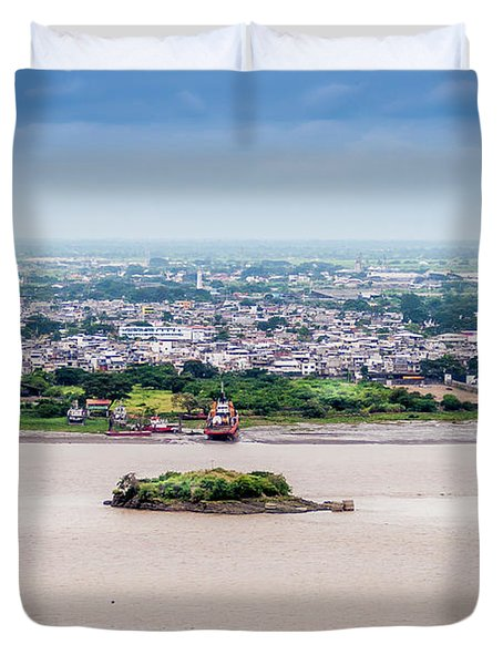 Island In The River Duvet Cover