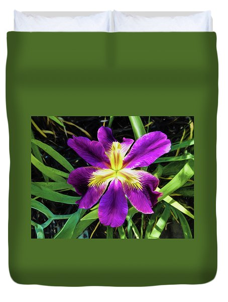 Island Iris 2 Duvet Cover by Penny Lisowski