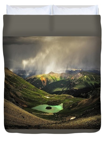 Island Lake Duvet Cover