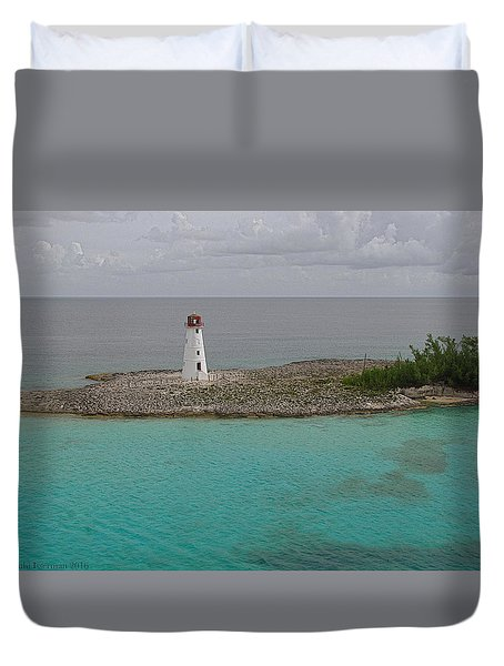 Island Lighthouse Duvet Cover