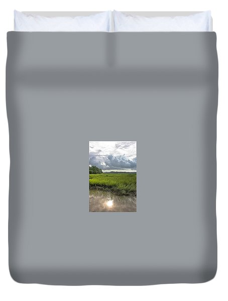 Duvet Cover featuring the photograph Island by Margaret Palmer